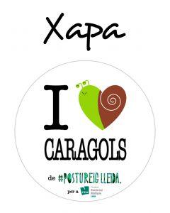 POSTUXAPA I LOVE CARAGOLS