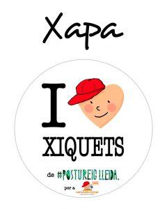 POSTUXAPA I LOVE XIQUETS