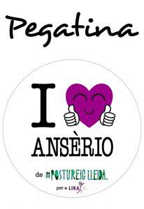 POSTUPEGATINA I LOVE ANSÈRIO